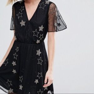 ASOS River Island Star Embroidered Bead Dress 8